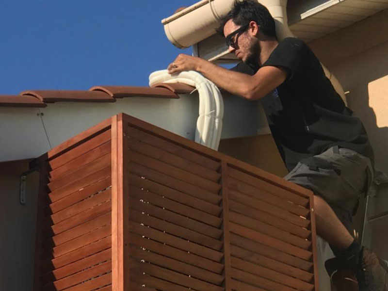 installation de climatisation par aclimax sur un chantier à lyon 4