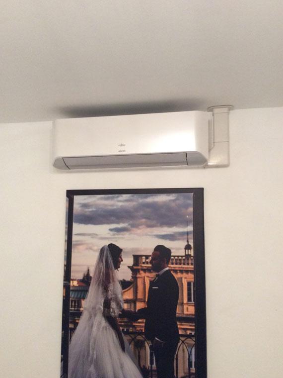 installation de climatiseur mural réversible maison
