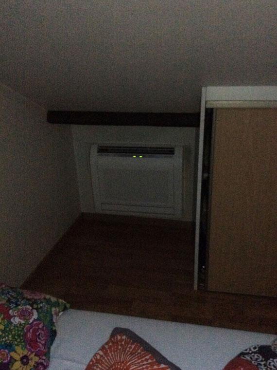 climatiseur console sur une mezzanine