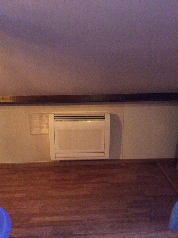 climatiseur console sur mezzanine